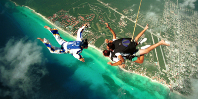 Sky Dive, Activities in Playa del Carmen